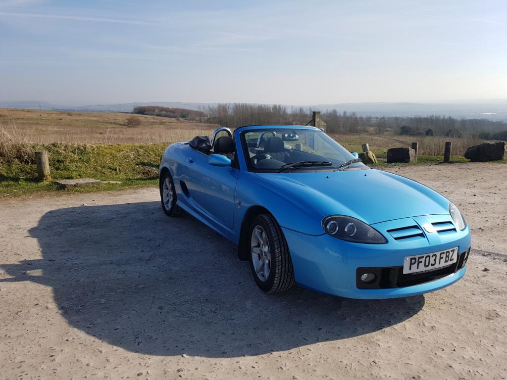 My Tf on the moors above Bolton